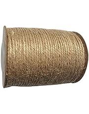 Vaessen creative 111-001 jute touw, naturel, wit, 9 x 6,9 x 6,9 cm