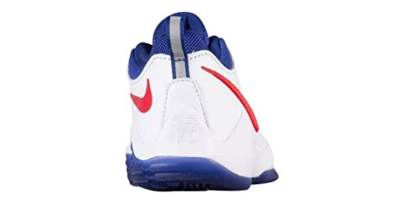70a96ca0f743 Amazon.com   Nike Kids  Preschool PG 1 Basketball Shoes (White Red)    Sports   Outdoors