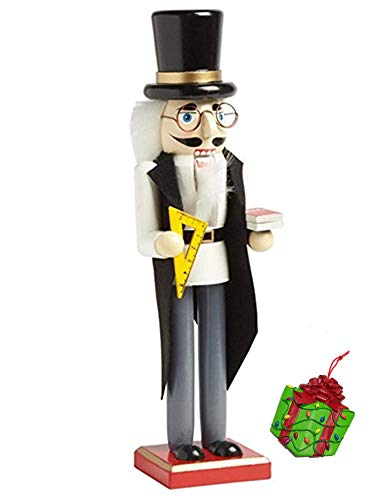 Distinctive Designs School Teacher Large Decorative Holiday Season Wooden Christmas Nutcracker & Bonus Tree Ornament