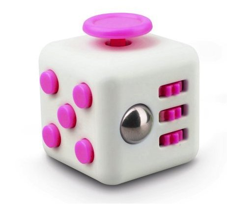 Price comparison product image Premium Spinzz 6 Sides Fidget Cube Dice, Fidget Cube for Anxiety, Stress Relief, Attention, Concentration, Focus Cube Desk Work Puzzle Toy for Children/Adult Prime, Gift ADHD, EDC Pink/White 2017
