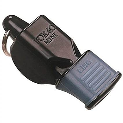 3e4dfdd940f5 Amazon.com   Fox 40 Mini CMG with Breakaway Lanyard Black   Coach And  Referee Whistles   Sports   Outdoors
