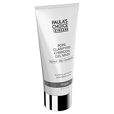 Paula's Choice Pore Clarifying Charcoal Gel Mask with Porous Charcoal and Natural Clays, 3 Ounce Bottle, Charcoal Face Mask to Balance Oily Skin or Combination Skin Charcoal and Clay Face Mask