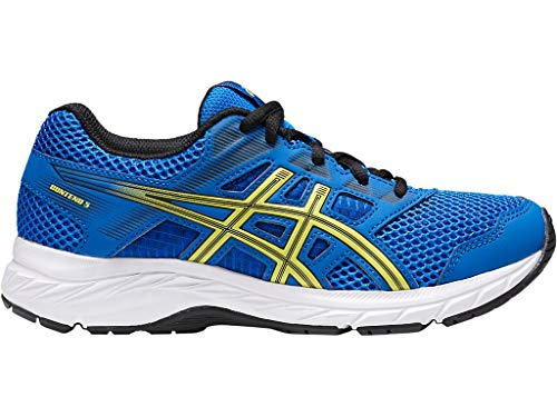 ASICS Kid's Gel-Contend 5 GS Running Shoes, 4.5, Illusion Blue/Lemon -