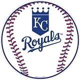 Kansas City Royals 12 inch Baseball Style Metal Circle Sign