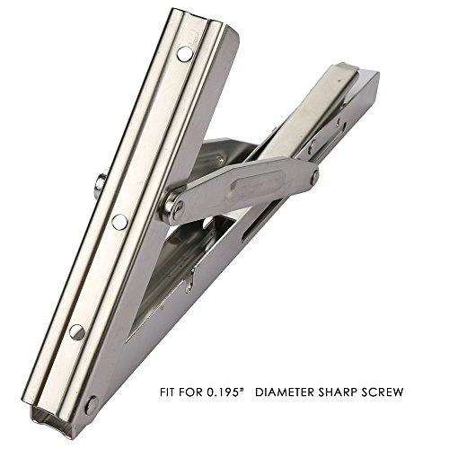 Goture Stainless Steel Folding Shelf Bracket Heavy Duty