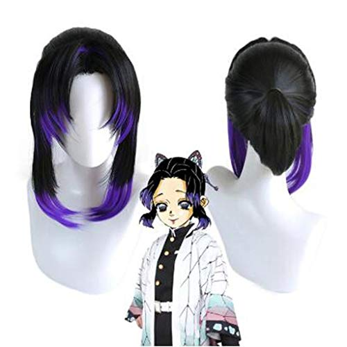 Ani·Lnc Demon Slayer: Kimetsu no Yaiba Cosplay Wig, Kamado Tanjirou Kamado Nezuko Synthetic Hair Wigs for Anime-Fans (Kochou Shinobu)