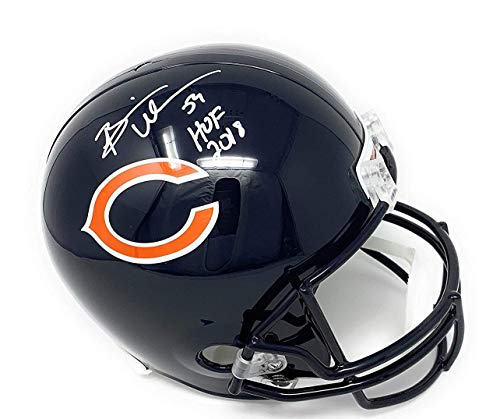 brian urlacher signed helmet