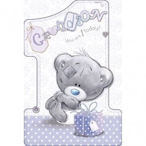 Me to you grandson 1st birthday card amazon kitchen home me to you grandson 1st birthday card bookmarktalkfo Image collections