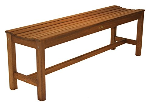 (Outdoor Interiors 60404 3 Person Backless Eucalyptus Bench)
