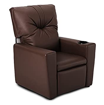 BROWN KIDS CHILDRENS RECLINER ARMCHAIR/GAMES CHAIR/SOFA/SEAT In PU LEATHER  LOOK