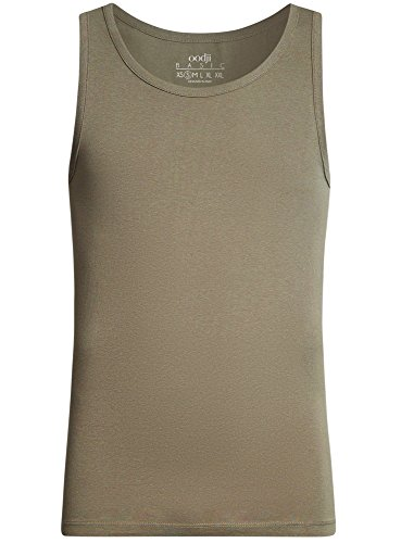 Ultra Droite Homme Oodji Sans Basique 6600n Étiquette Vert Coupe Débardeur 4BACwBdqx