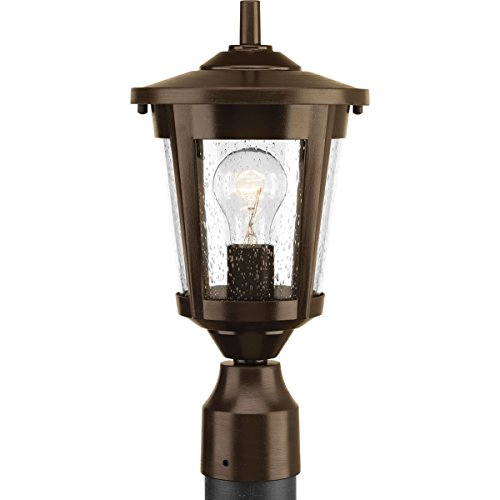 Progress Lighting P6425-20 1-100W Med Post Lantern, Antique Bronze by Progress Lighting