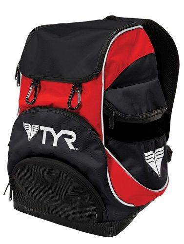 TYR Alliance Team Mini Backpack (Black/Red, 16.5 x 11.25 x 8.75-Inch)