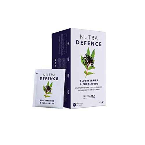 NUTRADEFENCE – Cold and Flu Tea | Immunity Tea – Supports & Boosts The Immune System – Includes Elderberry, Eucalyptus and Licorice Root – 20 Enveloped Tea Bags – by Nutra Tea – Herbal Tea