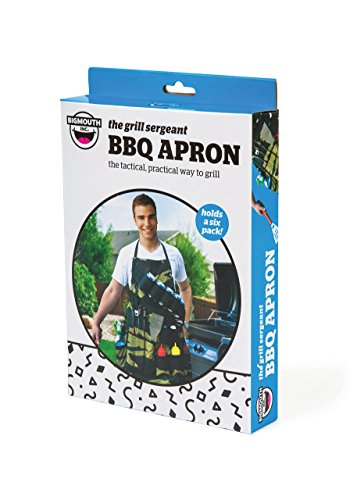 BigMouth Inc The Grill Sergeant BBQ Apron, Cotton Camouflage Gag Gift for Cookouts, Adjustable Strap, Pockets and Bottle Opener Included by BigMouth Inc (Image #2)
