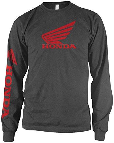Honda Mens Wing Long Sleeve Shirt  Grey  X Large