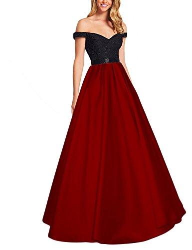 Abendkleider Shoulder Line Lang Applikation Off Bainjinbai Brautjungfernkleider Burgundy Festkleider BallKleider A qYgCnB