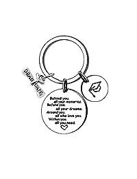 KENYG Graduation Gift Inspirational Key Ring Key Chain Key Tag Friendship Students Fashion Jewelry
