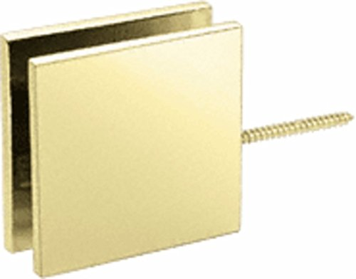 C.R. LAURENCE SGC186BR CRL Brass Square Wall Mount Movable Transom Clamp Brass Wall Mount Clamps