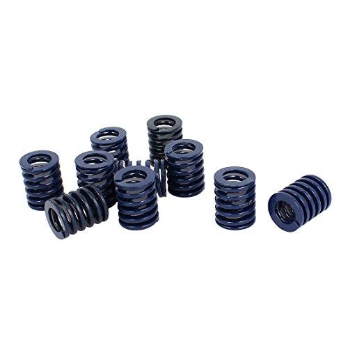 uxcell 16mm OD 20mm Long Light Load Compression Mold Die Spring Blue 10pcs