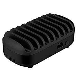 ORICO 120W 10 Ports USB Charging Station with Stands Smart Charger x 10 BLACK [DUK-10P]