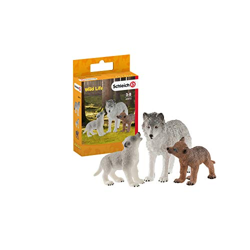 Schleich Mother Wolf with Pups Toy