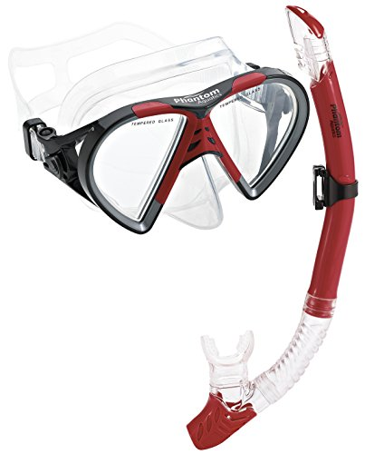Phantom Aquatics Cancun Mask Snorkel Combo, Red
