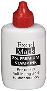 Self Inking Stamp Refill Ink by ExcelMark - 2 oz. - Red Ink - SHIPS FREE
