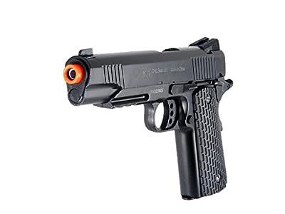 BBTac Airsoft Pistol 1911 M291 - Metal Slide Airsoft Gun Spring Powered 320 FPS, Metal Alloy Construction (Black)