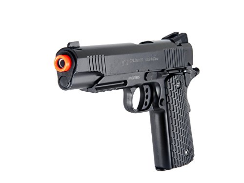 BBTac Airsoft Pistol 1911 M291 - Metal Slide Airsoft Gun Spring Powered 320 FPS, Metal Alloy Construction (Black) by BBTac