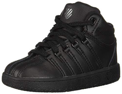 K-Swiss Classic VN Mid Shoe, Black/Black, 8 M US Toddler