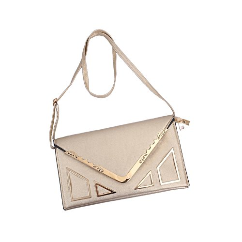 Sookiay Strap Womens and with Gold Envelope Clutch Wristlet Removable Purse vv8wrCq