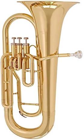 Monel Goldmessing Mundrohr Karl Glaser Bb Euphonium Baritonhorn 3 Pumpventile