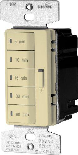 EATON PT18M-V-K Accell Core Programmable Timer, 120 V, 5, 10, 15, 30, 60 Min Off, Ivory ()