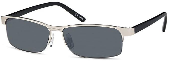 Modèle classique de lunettes de soleil avec verres fin pierres/protection uV400 - Argent - Argent, taille unique EU