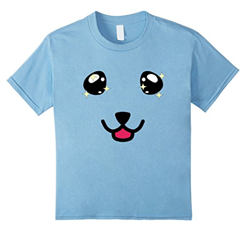 [Kids Cute Dog Face Smile Emoji Gift Emoticon Shirt for Pet Lovers 8 Baby Blue] (Bernese Mountain Dog Baby Costume)