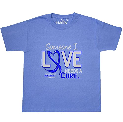 - inktastic Anal Cancer Youth T-Shirt Youth Large (14-16) Columbia Blue 30831