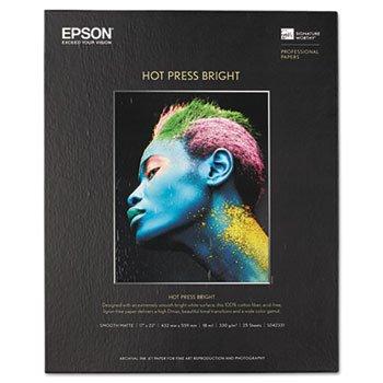 Epson Hot Press Bright Fine Art Paper, 17 X 22, Bright White, 25 Sheets (Epson Hot Press Bright)