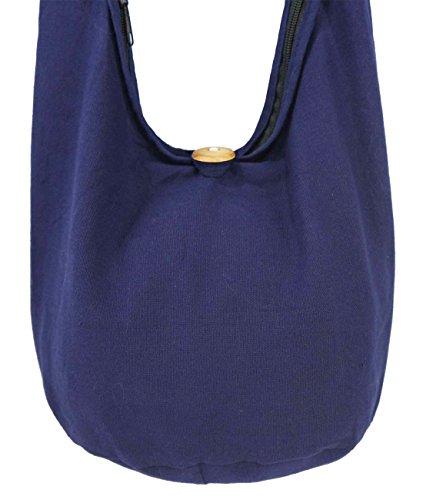 Lovely Creationss Hippie Boho New Elephant Crossbody Bohemian Gypsy Sling Shoulder Bag Small Size (S Navy blue)