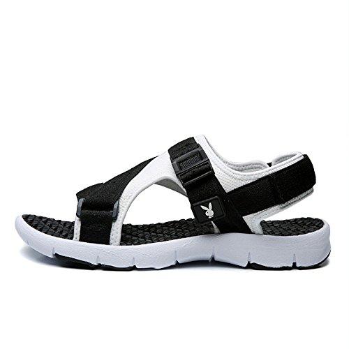 Assorbimento Mare Coreane Summer Black in Asciugatura 2018 Scarpe da Antiscivolo Rapida Uomo da New Sandali Scarpe Fettuccia Velcro Giovanili Sandali Casual ytqYwUPa7B
