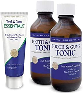 product image for Dental Herb Company - 2 Pack Tooth & Gums Tonic Mouthwash and Essentials Toothpaste