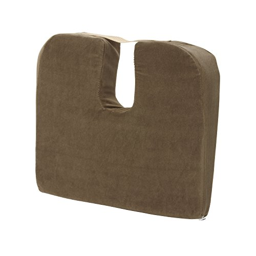 Duro-Med Foam Seat Cushion for Coccyx Support and Better Posture, Helps with Sciatica Back Pain, Camel