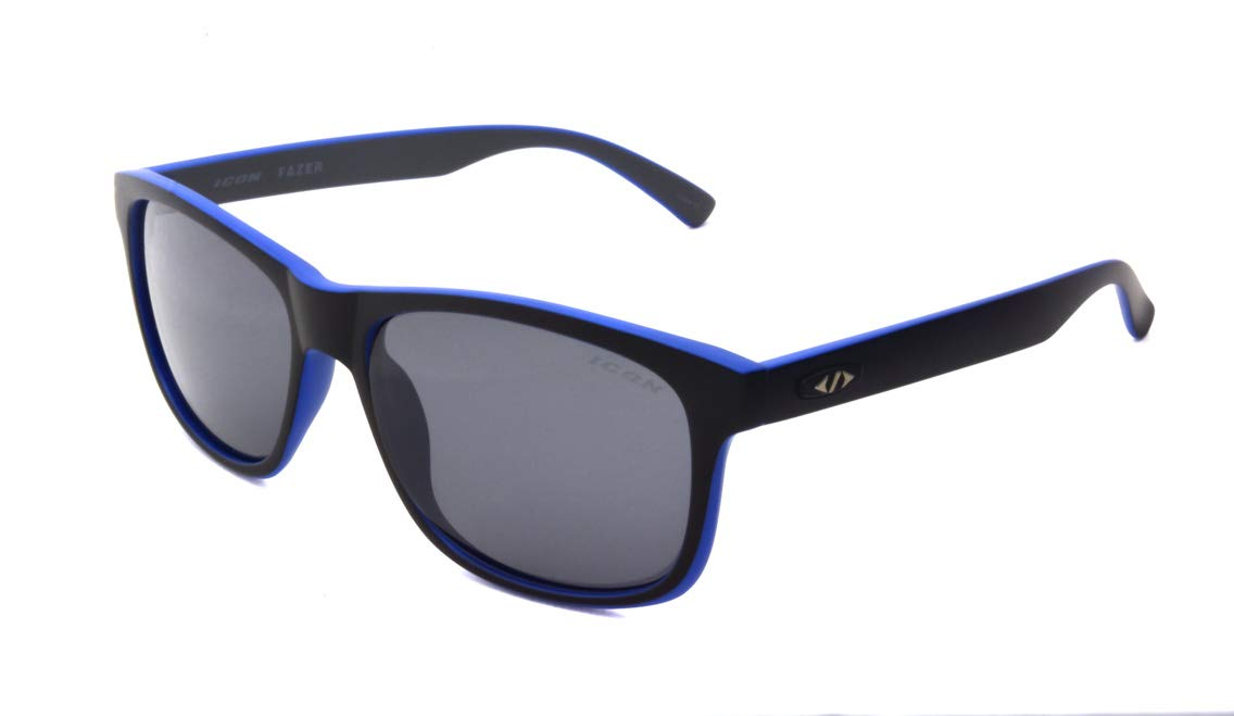 Matte Black 20971-014551-ISS Polarized Sport Sunglasses Icon Eyewear One Size Inc Fazer