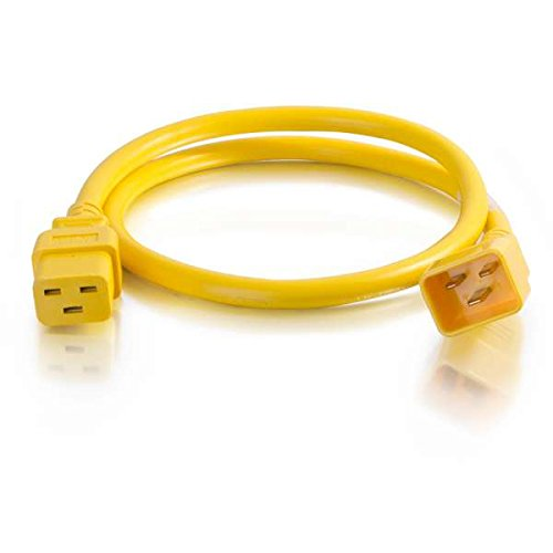 C2G 12AWG IEC320C20 to IEC320C19 Power Extension Cable [Yellow]