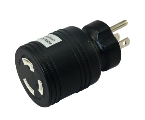 Conntek 30222-BK Locking Plug Adapter, Black