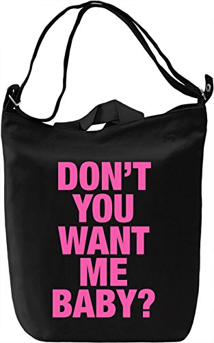 Want me Borsa Giornaliera Canvas Canvas Day Bag| 100% Premium Cotton Canvas| DTG Printing|