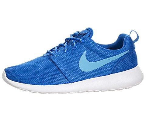 Nike Women's Rosherun Sneaker (7.5, DK Electric Blue/White/Clearwater)
