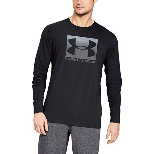 Under Armour Men's Boxed Sportstyle Long Sleeve Shirt, Black (001)/Stealth Gray, ()
