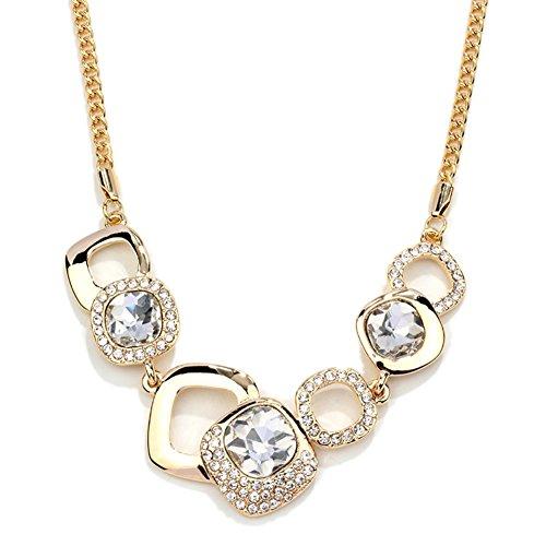 NL-12039C5 Fashion Alloy Europe Diamond Inlaid Crystal Women's Necklace