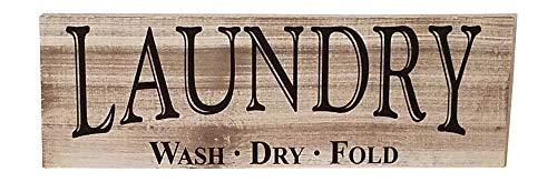 MyVintageFinds Farmhouse Laundry Room Sign, Real Wood and Authentic Distressed Whitewash. Made in America.
